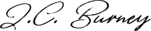 JC Burney signature